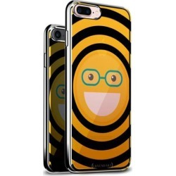 LUXENDARY EMOJI WITH EYE GLASSES DESIGN CHROME SERIES CASE FOR IPHONE 6/6S PLUS