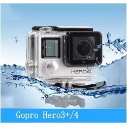 Waterproof Diving Housing Case for GoPro Hero 3+/Hero 4 Plus Accessory New