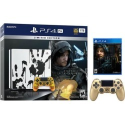 PlayStation 4 Pro 1TB Limited Death Stranding Edition 4K HDR Gaming Console Bundle With an Extra Gold DualShock 4 Wireless Controller
