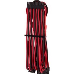 Corsair CP-8920233 Premium Individually Sleeved ATX 24-Pin Cable Type 4 Gen 4 - Black/Red