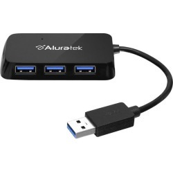 Aluratek AUH2304F 4-Port USB 3.0 SuperSpeed Hub with Attached Cable found on Bargain Bro India from Newegg Canada for $23.76