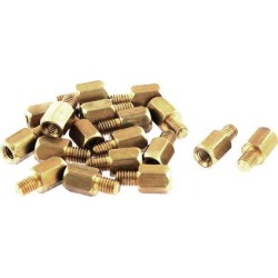 Male Female Brass Hex Standoff PCB Spacer 10mm Length 18Pcs