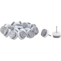Unique Bargains 20 Pcs Antislip Plastic Felt Round 17mm Dia Chair Foot Cover Table Furniture Leg Protector White Gray found on Bargain Bro India from Newegg Canada for $8.95
