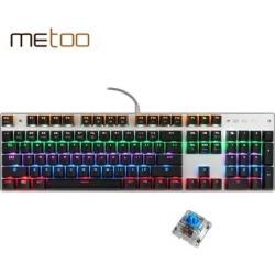 ZERO Mechanical Keyboard 104 Keys Blue Switch Pro LED Backlit Gaming Keyboards for Tablet Desktop Russian Keyboard Stickers
