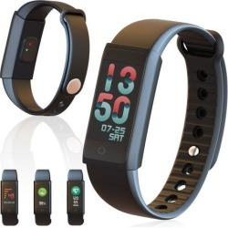 Indigi® OLED Bluetooth Smart Watch Heart Rate Monitor Fitness Tracker iOS Android Great Gift