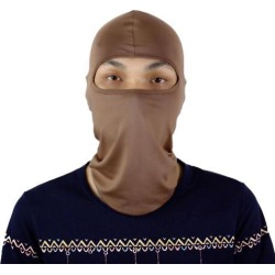 Motorcycle Cycling Hiking Full Face Mask Neck Protecting Balaclava Coffee Color found on Bargain Bro India from Newegg Business for $5.15