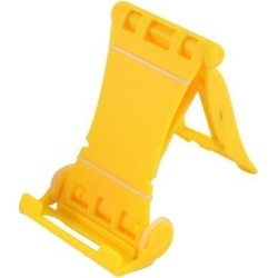 Smart Cell Phone Ipad Desktop Holder Stand Foldable Bracket Yellow