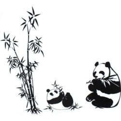 Unique Bargains DIY Panda Bamboo Pattern Removable Wall Decor Sticker Room Wallpaper Decal found on Bargain Bro Philippines from Newegg Canada for $11.78