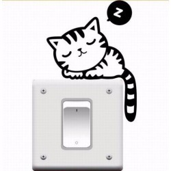 Switch Removable Wall Stickers Cartoon Cute Kittens Generation Switch Stickers