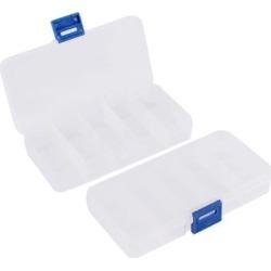 Unique Bargains Clear Blue Plastic 10 Sections Jewelry Screws Pills Box Storage Container 2 Pcs