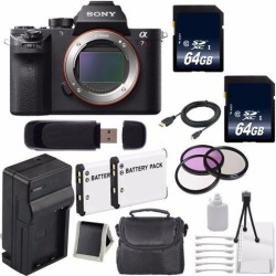 Sony Alpha a7R II Mirrorless Digital Camera (International Model ) + 62mm 3 Piece Filter Kit 6AVE Bundle 4