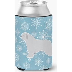 Winter Snowflake Spanish Water Dog Can or Bottle Hugger BB3515CC