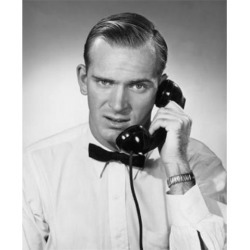 Posterazzi SAL25548249 Portrait of Businessman Using Telephone Poster Print - 18 x 24 in. found on Bargain Bro Philippines from Newegg Canada for $54.86
