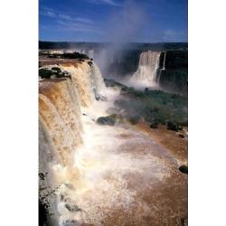 Posterazzi PDDSA04MDE0017 Iguacu Falls Brazil Vertical Poster Print by Michael Defreitas - 18 x 26 in.