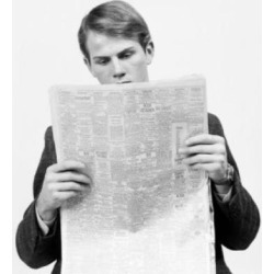 Posterazzi SAL25548193 Close-Up of a Businessman Reading Help Wanted Ads Poster Print - 18 x 24 in.