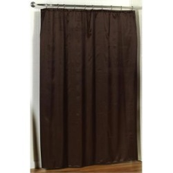 Carnation Home Fashions Lauren Dobby Fabric Shower Curtain in Brown
