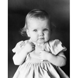 Posterazzi SAL2559333 Close-Up of a Baby Girl Poster Print - 18 x 24 in.