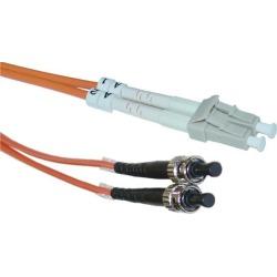 Cable Wholesale LC / ST Multimode Duplex Fiber Optic Cable 62.5/125 - 15 Meter (49.2ft)