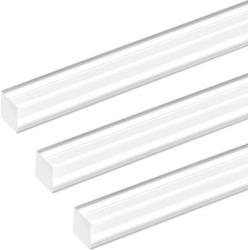 10mmx10mmx20inch Acrylic Rod Square Clear Acrylic Plastic Rod Solid PMMA Bar 3pcs