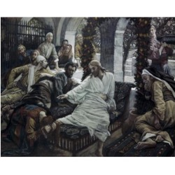 Posterazzi SAL9999120 A Woman Anoints the Feet of Jesus James Tissot 1836-1902 French Poster Print - 18 x 24 in.