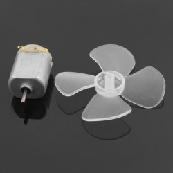 F130 DC 3V 18000RPM Mini Electric Motor w Transparent Propeller for RC Model