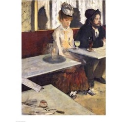 Posterazzi BALXIR5086LARGE The Absinthe Poster Print by Edgar Degas - 24 x 36 in. - Large