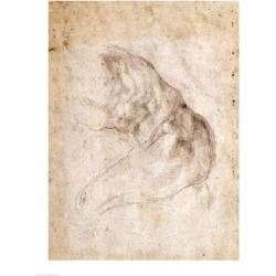 Posterazzi BALBAL191765LARGE Study for The Creation of Adam Poster Print by Michelangelo Buonarroti - 24 x 36 in. - Large