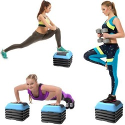 16'Aerobic Step System 4 Risers Fitness Exercise Stepper Platform Cardio Workout found on Bargain Bro India from Newegg Business for $45.95