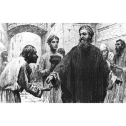 Posterazzi SAL99587036 The Parable of the Pharisee & the Publican by Eugene Burnand 1850-1921 Poster Print - 18 x 24 in.