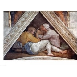 Posterazzi BALBAL53524LARGE Sistine Chapel Ceiling - The Ancestors of Christ Poster Print by Michelangelo Buonarroti - 36 x 24 in. - Large found on Bargain Bro Philippines from Newegg Canada for $85.21