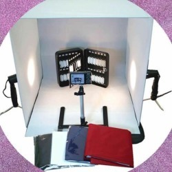 WOW 24' Cube Tent Photography Photo Studio Light Box + Lighting Stand Kit 60cm