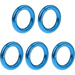 5 Pieces 22KN Rock Climbing Rescue Rappel Ring Bail-Out Connector Large blue