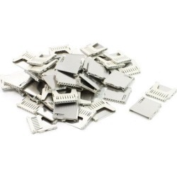 Unique Bargains 50 Pcs SMT Mounting Pull-Out Type SD Memory Card Sockets Slots 26mm x 26mm