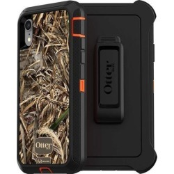 OtterBox DEFENDER SERIES SCREENLESS EDITION Case for iPhone Xr - Retail Packaging - RT MAX 5 HD (BLAZE ORANGE/BLACK/MAX 5 HD GRAPHIC)