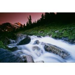 Posterazzi DPI1822678 Small Stream Skoki Valley Banff National Park Alberta Canada Poster Print by Bilderbuch, 18 x 12