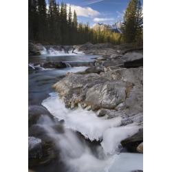 Posterazzi DPI1842841LARGE Waterfall On Sheep River - Kananaskis Alberta Canada Poster Print, Large - 22 x 34