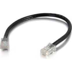 C2G 04108 Cat6 Cable - Non-Booted Unshielded Ethernet Network Patch Cable, Black (3 Feet, 0.91 Meters)