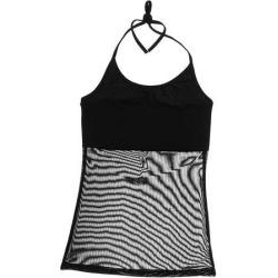 Belly dance Halter vest shirt dance clothes Latin dance basic tops L Black