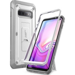 SUPCASE Galaxy S10 Case, Heavy Duty Holster & Kickstand Case Without Built-in Screen Protector for Samsung Galaxy S10 (2019 Release), Unicorn Beetle