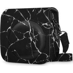 For Fujifilm Instax Mini 8 Mini 8+ Mini 9 Camera Case Bag Cover - Marble Black