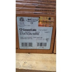 General Cable GenSpeed CMX Outdoor CMR Cat5e Cable White - 1,000ft