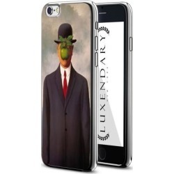 LUXENDARY SON OF A MAN MAGRITTE DESIGN CHROME SERIES CASE FOR IPHONE 6/6S PLUS