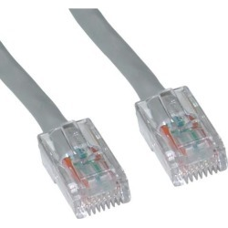 CableWholesale Cat5e Ethernet Patch Cable Bootless 25 foot - Gray