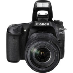 Canon EOS 80D 1263C006 Black Digital SLR Camera with 18-135MM IS USM KIT
