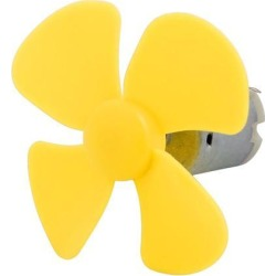 F130 DC 3V 18000RPM Mini Electric Motor w Yellow Propeller for RC Model