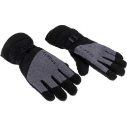 Winter Gloves with Wrist Strap for Skiing Snowboarding Shoveling black
