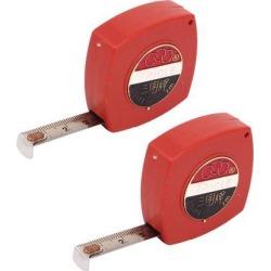 Home Builders Retractable Metric Rule Steel Tape Ruler Measure Tool 2M 6Ft 2pcs