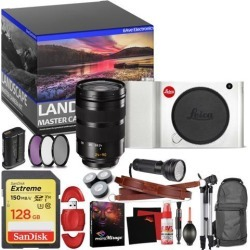 Leica TL Mirrorless Digital Camera (Silver) - Master Landscape Photographer Kit - Memory Card - Accessories with Leica SL 24-90mm f/2.8-4 ASPH. Lens