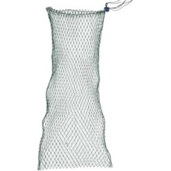Unique Bargains 0.39' x 0.39' Nylon Flexible Frame Fishing Landing Net Fish Basket Drawstring for Fishermen Dark Green