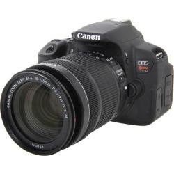Canon EOS Rebel T5i 8595B005 Black Digital SLR Camera with EF-S 18-135mm IS STM Lens